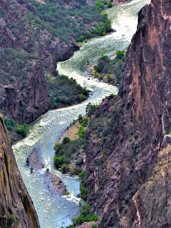Gunnison River down the canyon