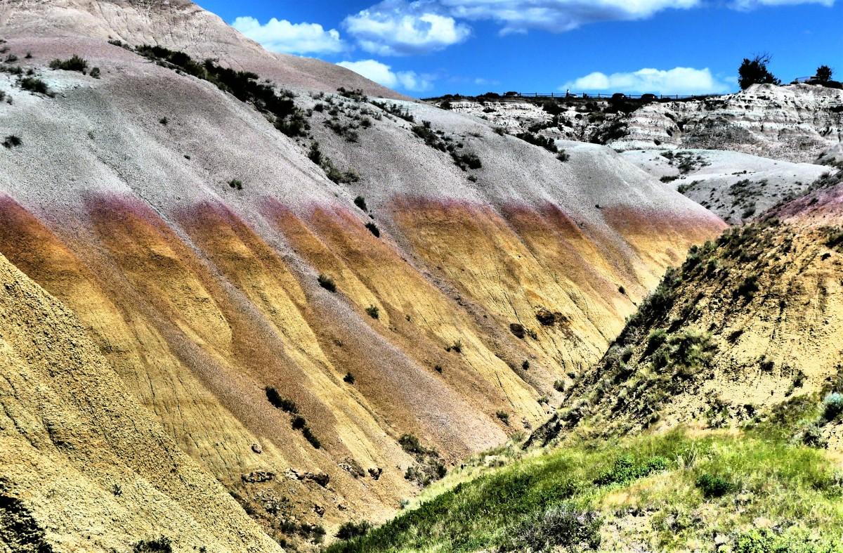 receding yellow mounds