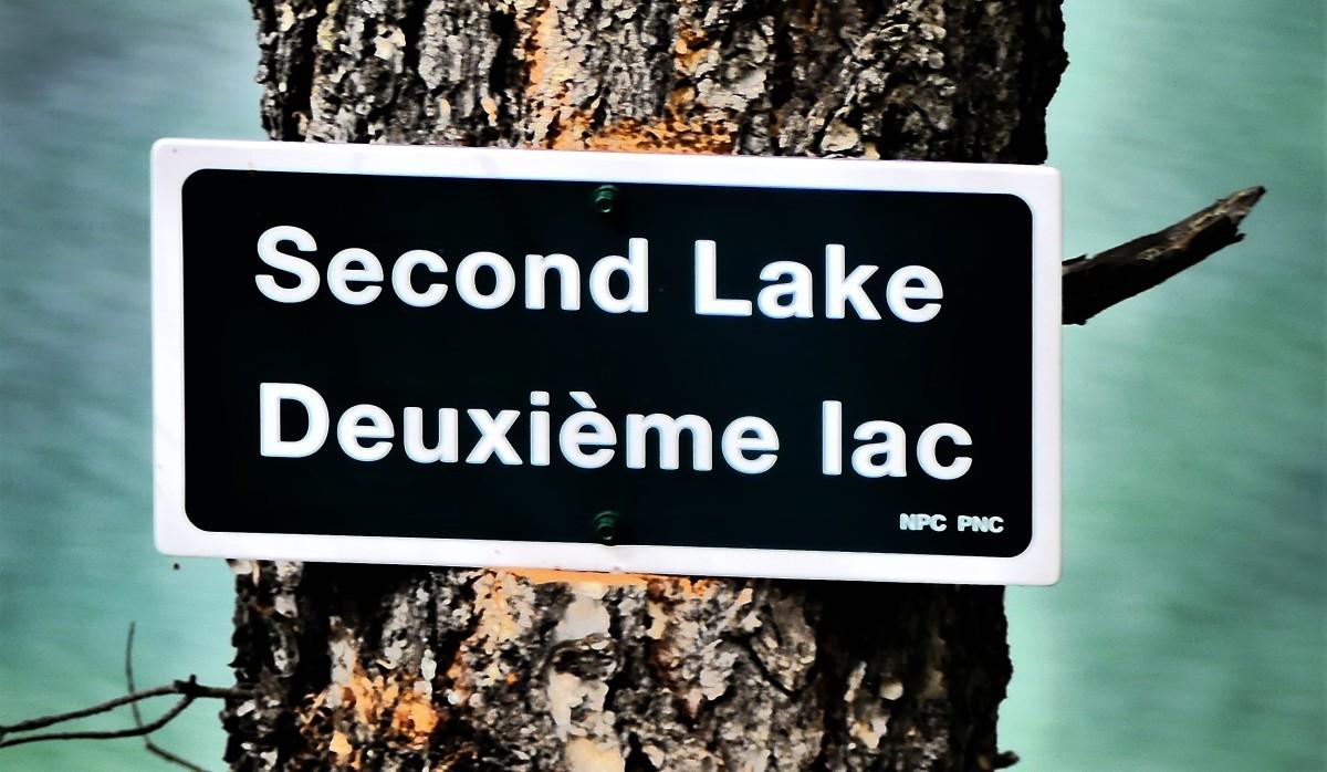 2nd lake sign