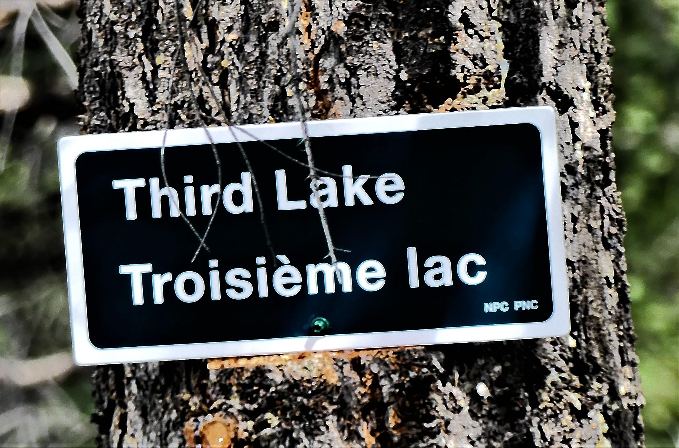 3rd lake sign