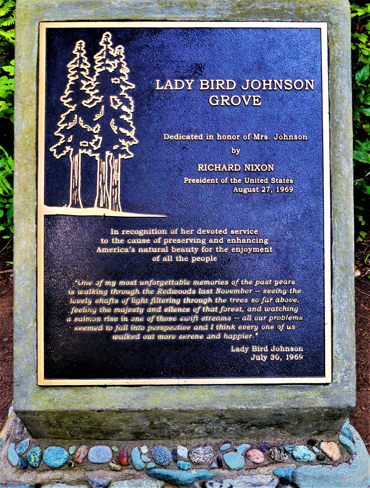 Lady Bird plaque