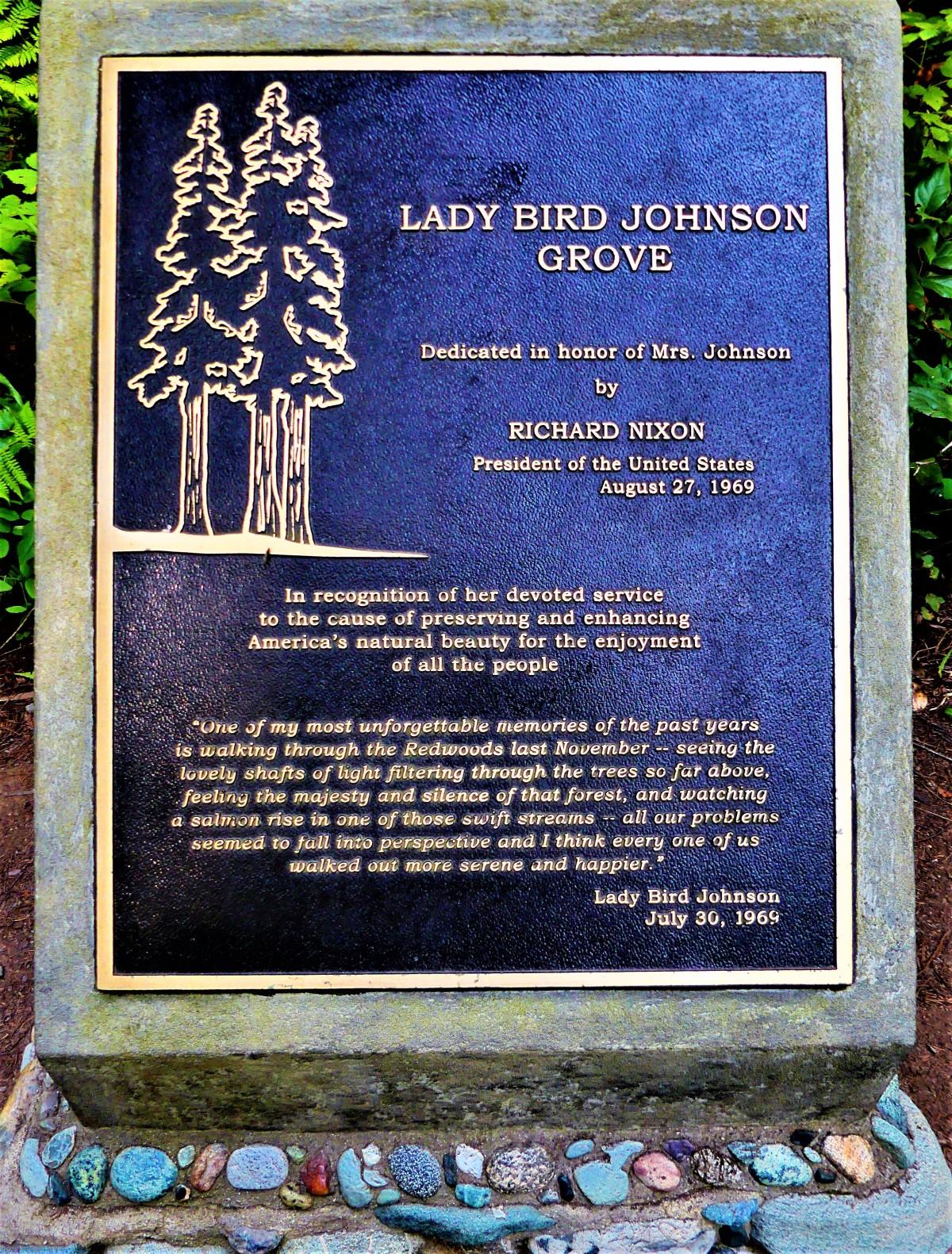 Lady Bird plaque