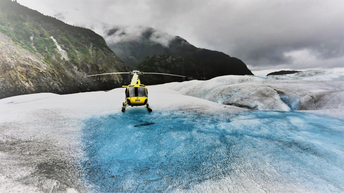 landing on Herbert Glacier