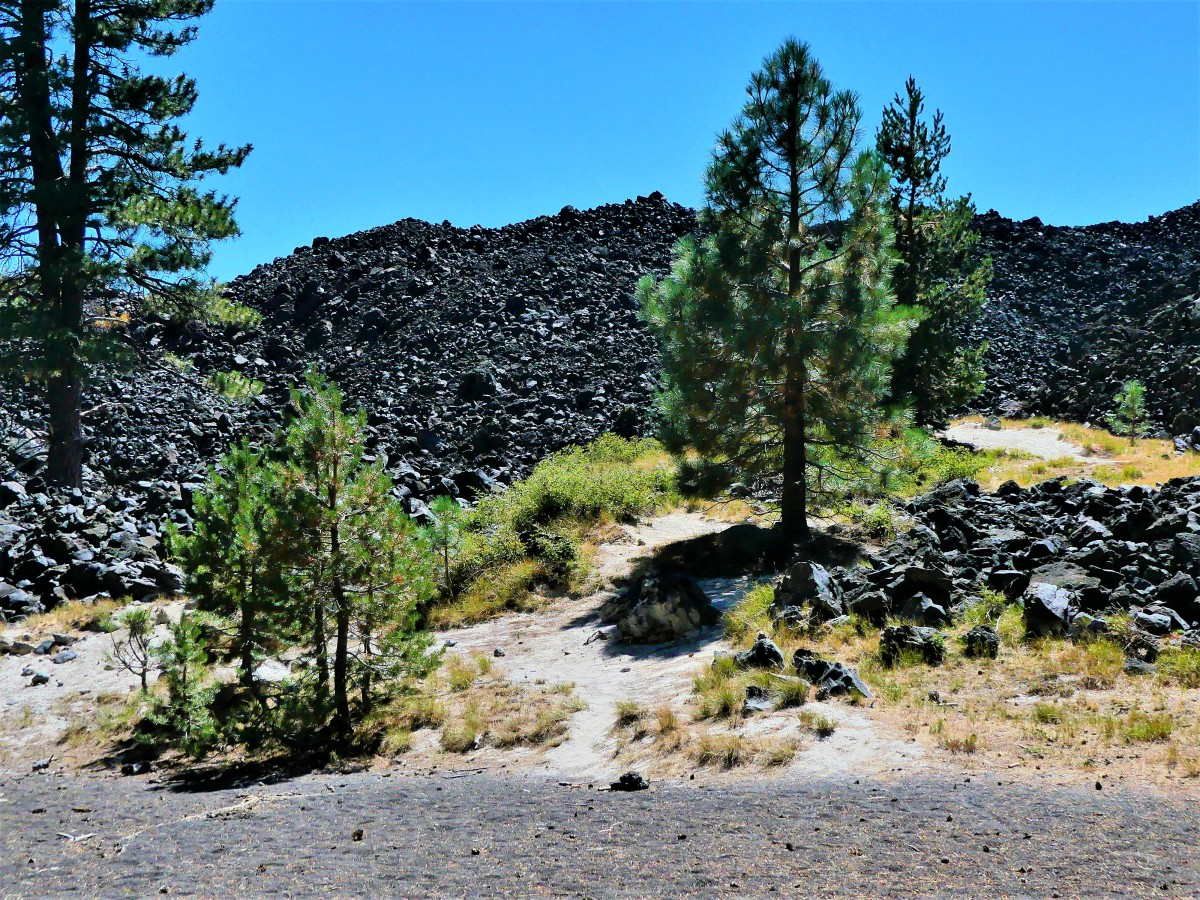 Lava beds and ash