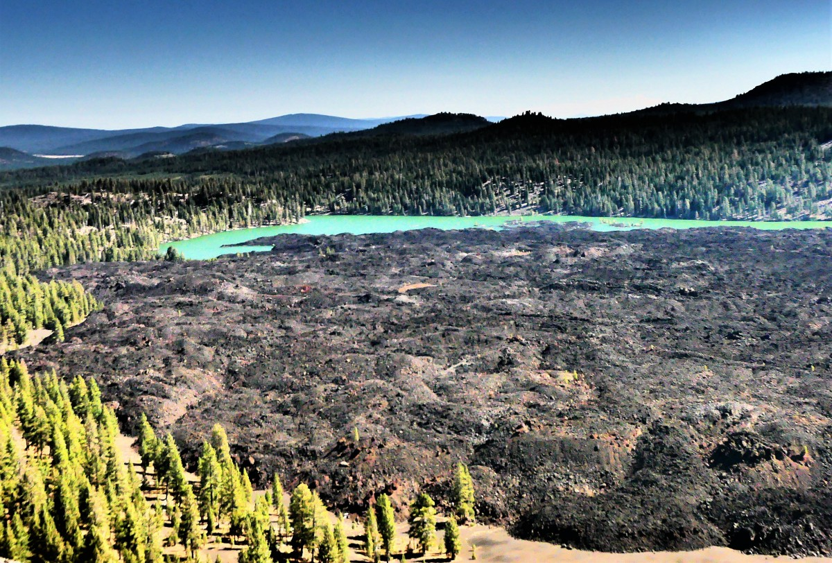 Lava beds and Butte Lake