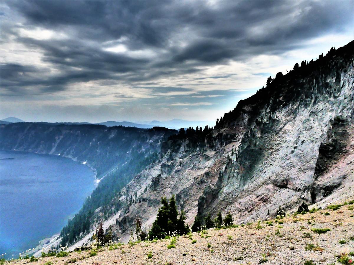 Lookout over caldera