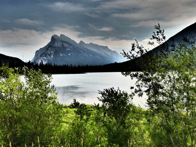 Mt. Rundle behind Vermillion Lakes