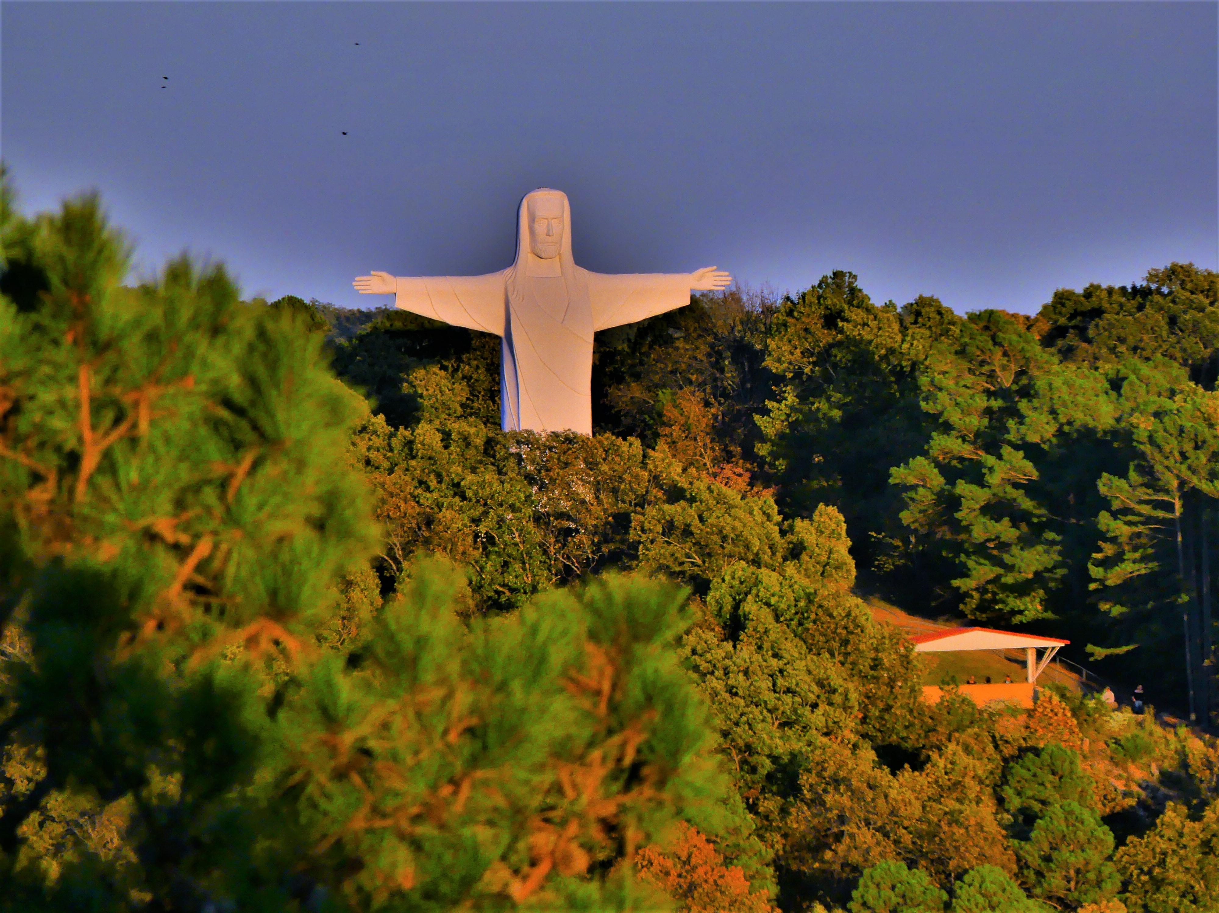 Jesus over sunset