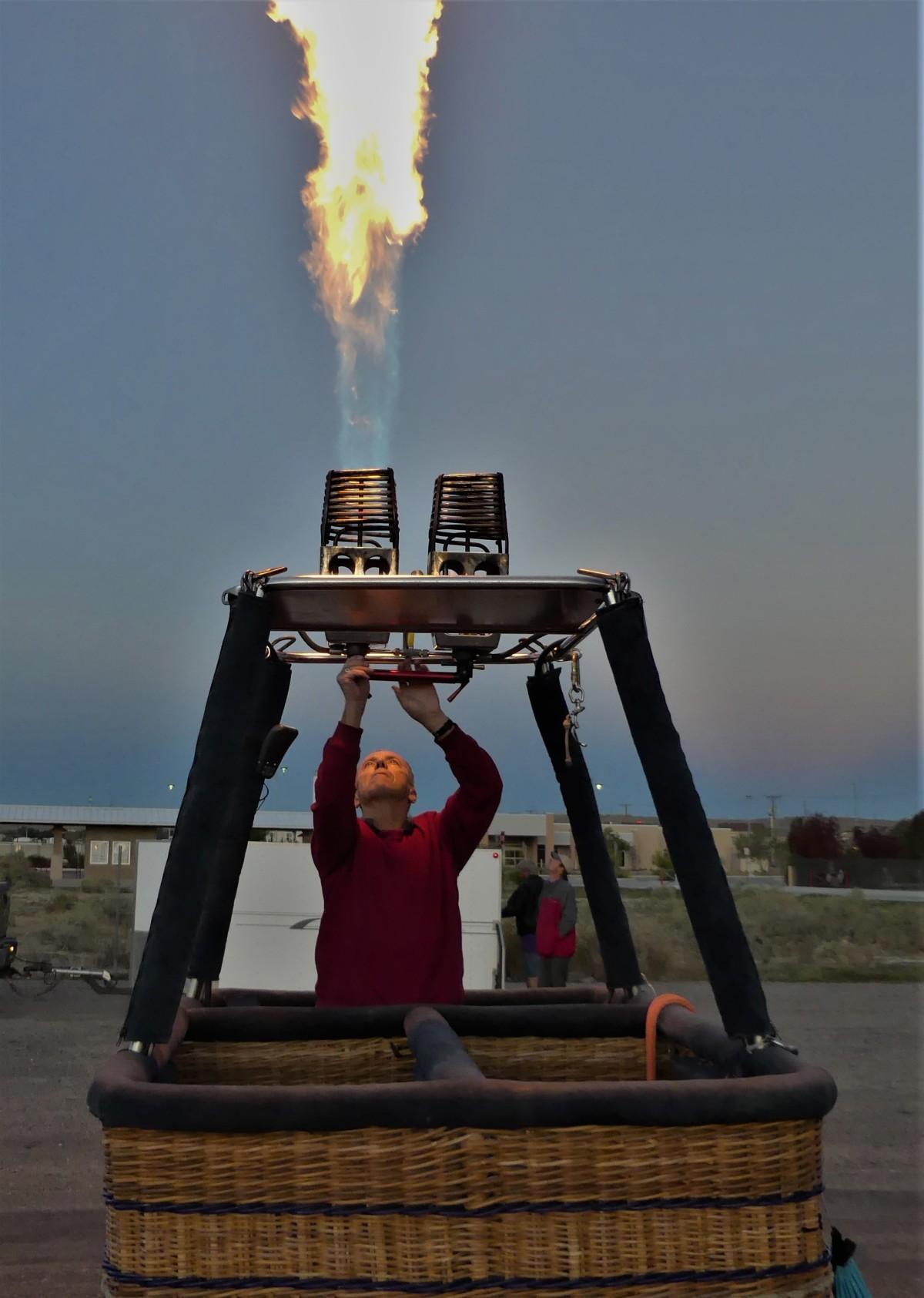 testing the burner