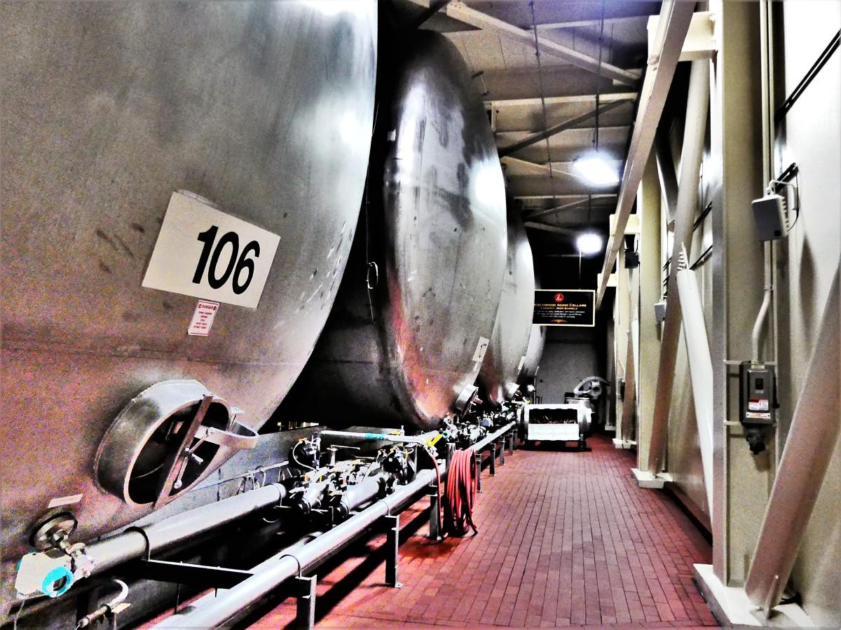 Beechwood aging tanks