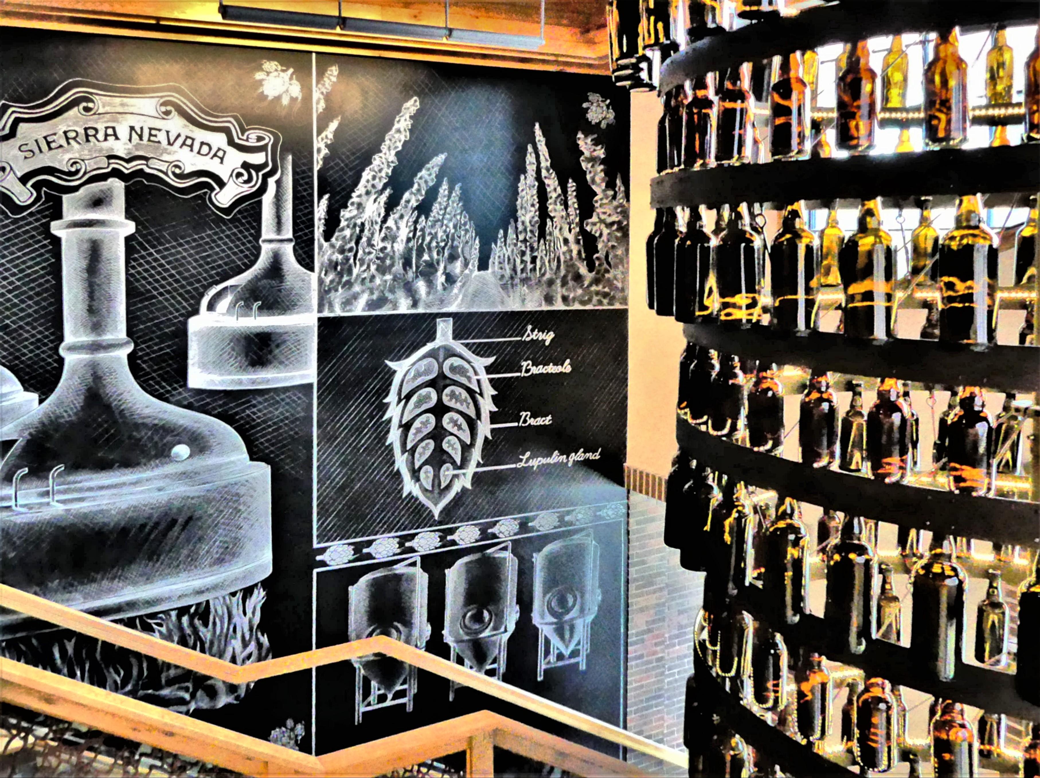 beer chandelier1