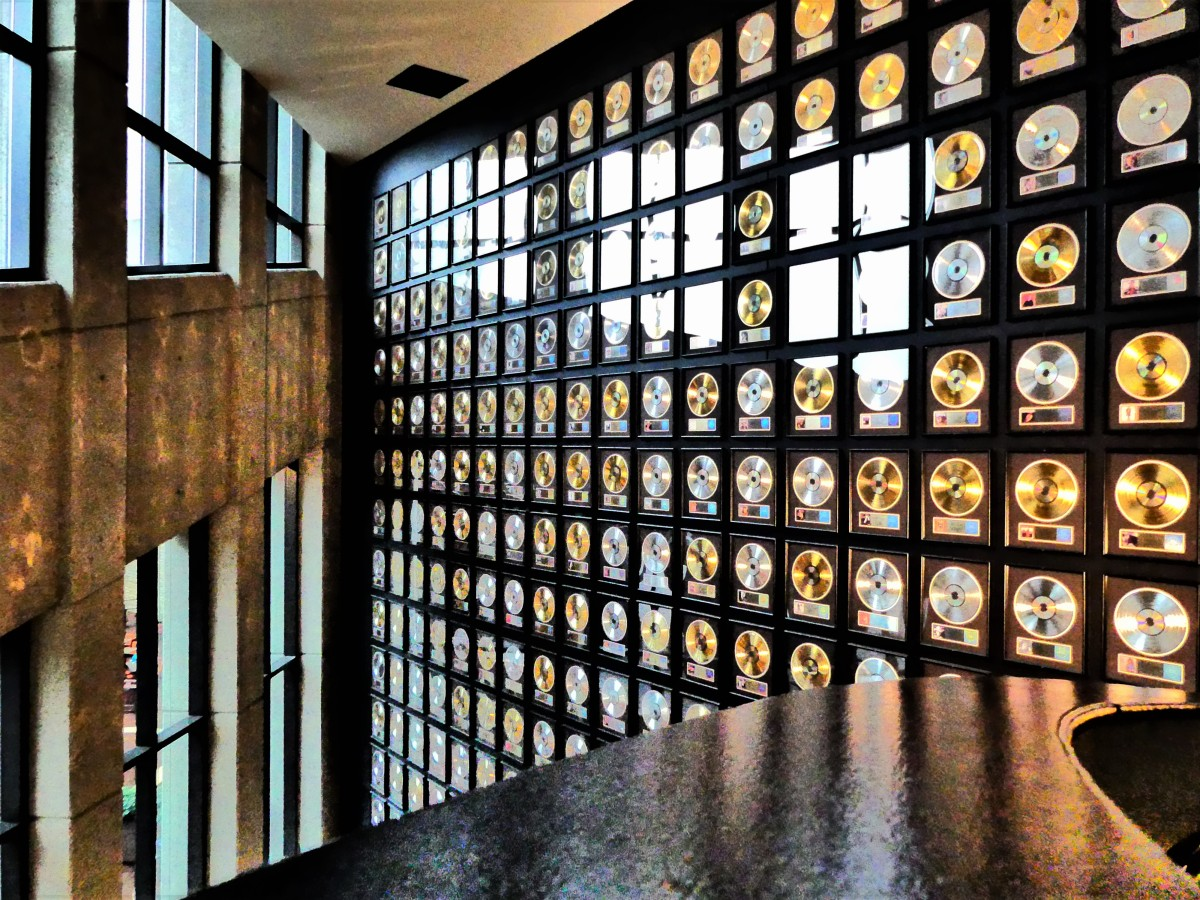gold record wall