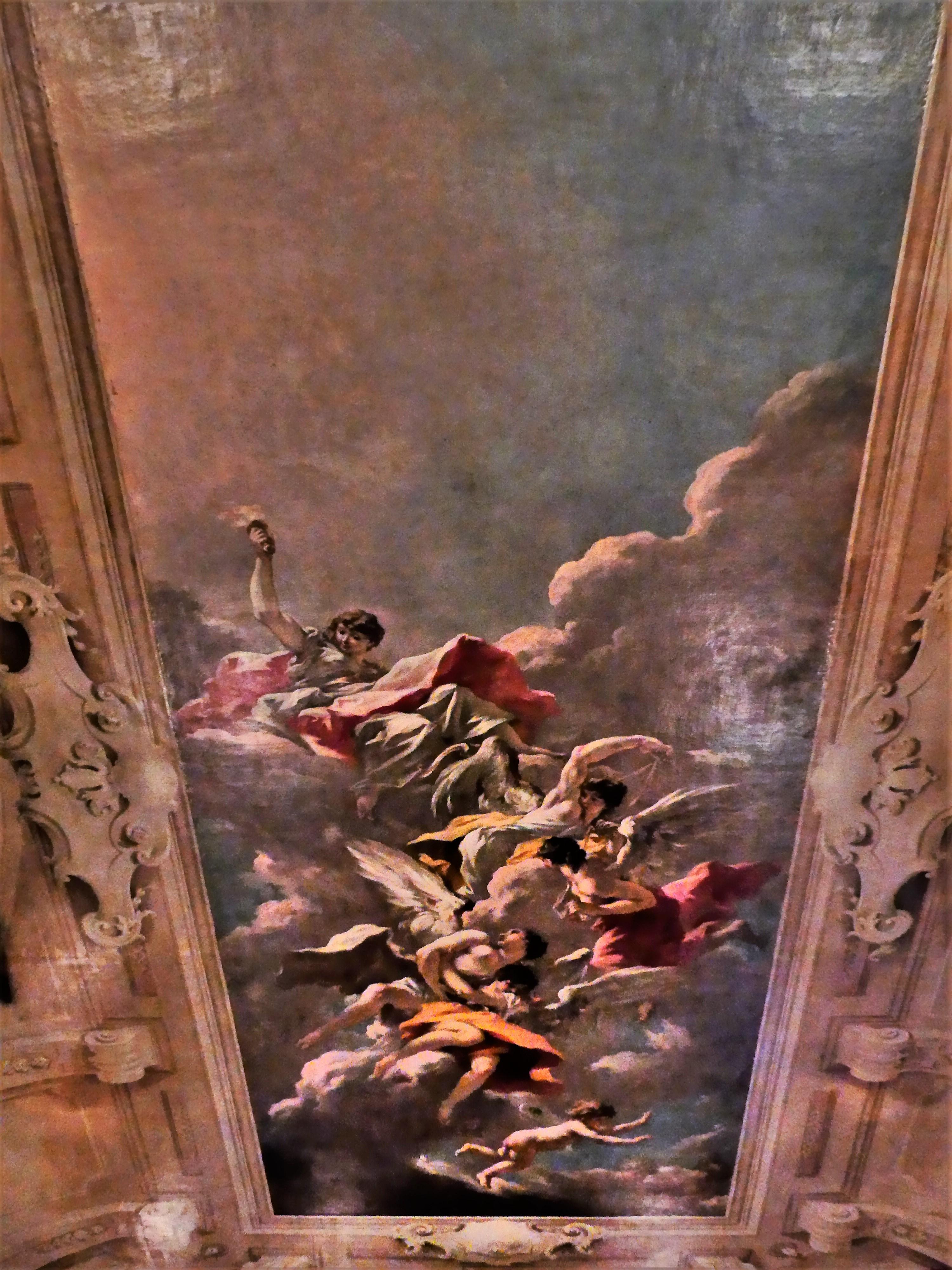 library ceiling fresco