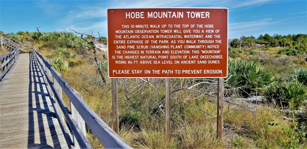 Hobe Mountain Tower sign