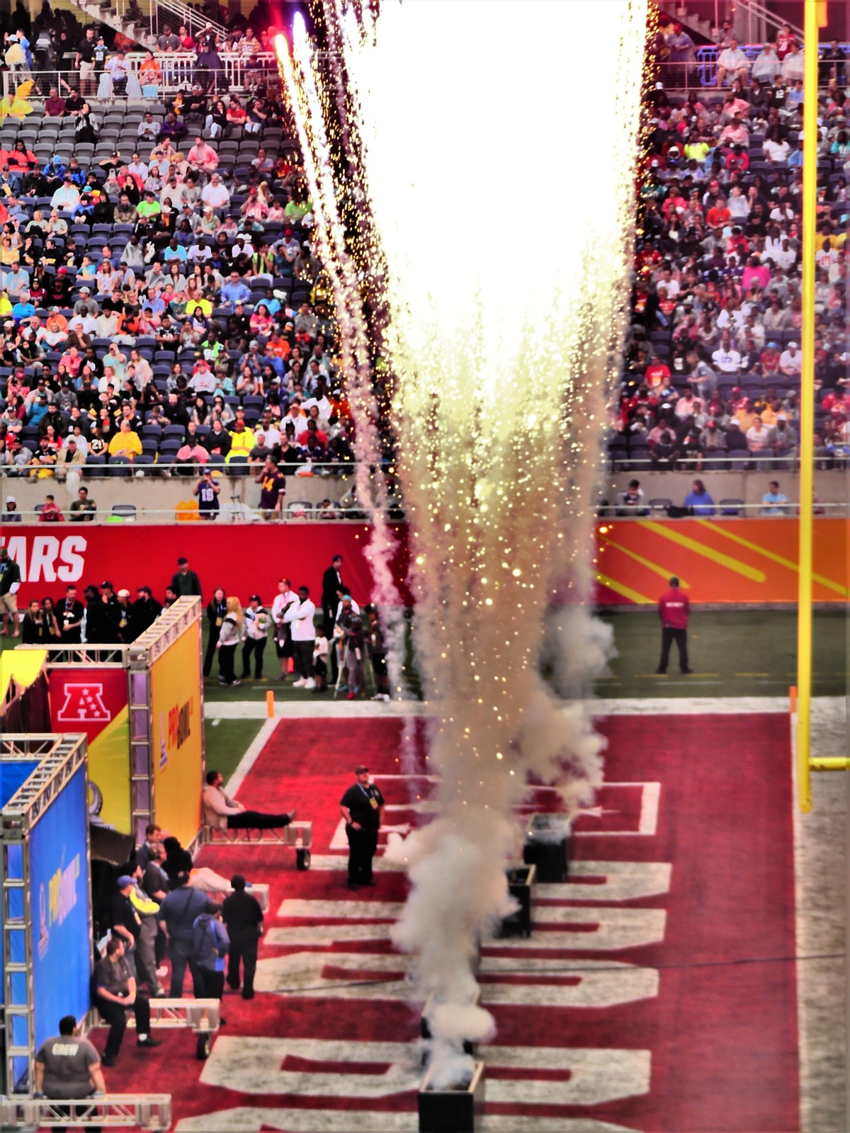 end zone pyrotechnics