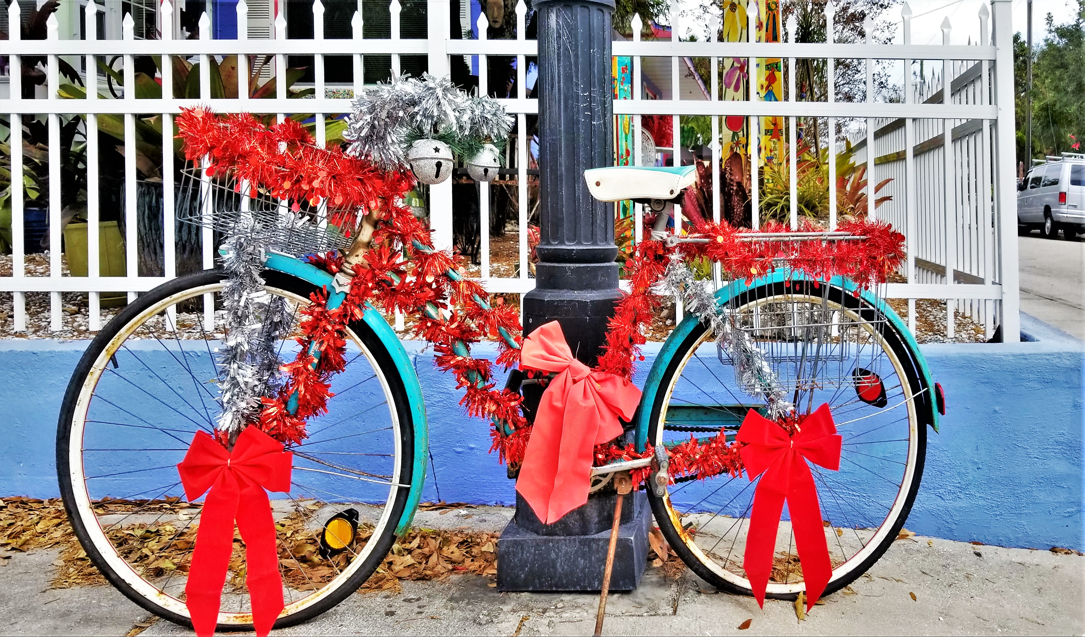 adorned bicycle