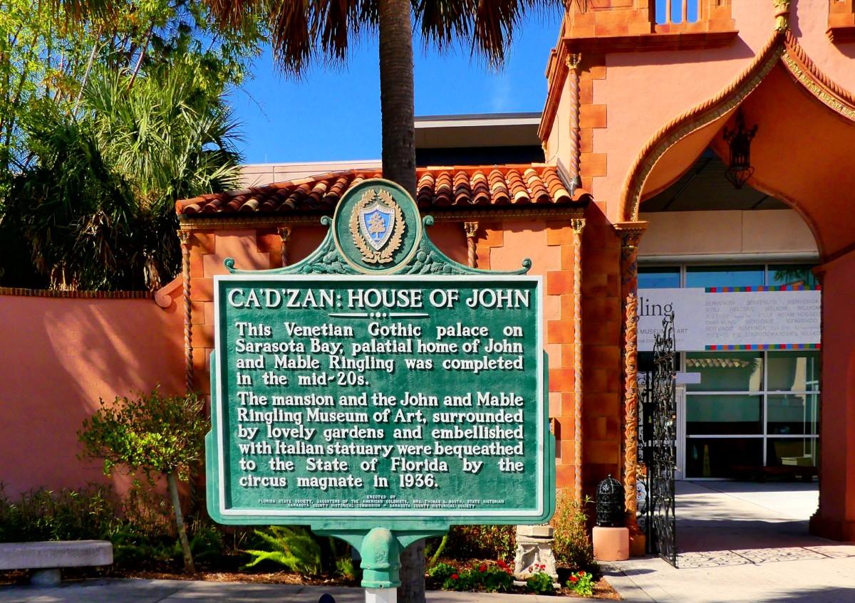 Ca'D'Zan signpost