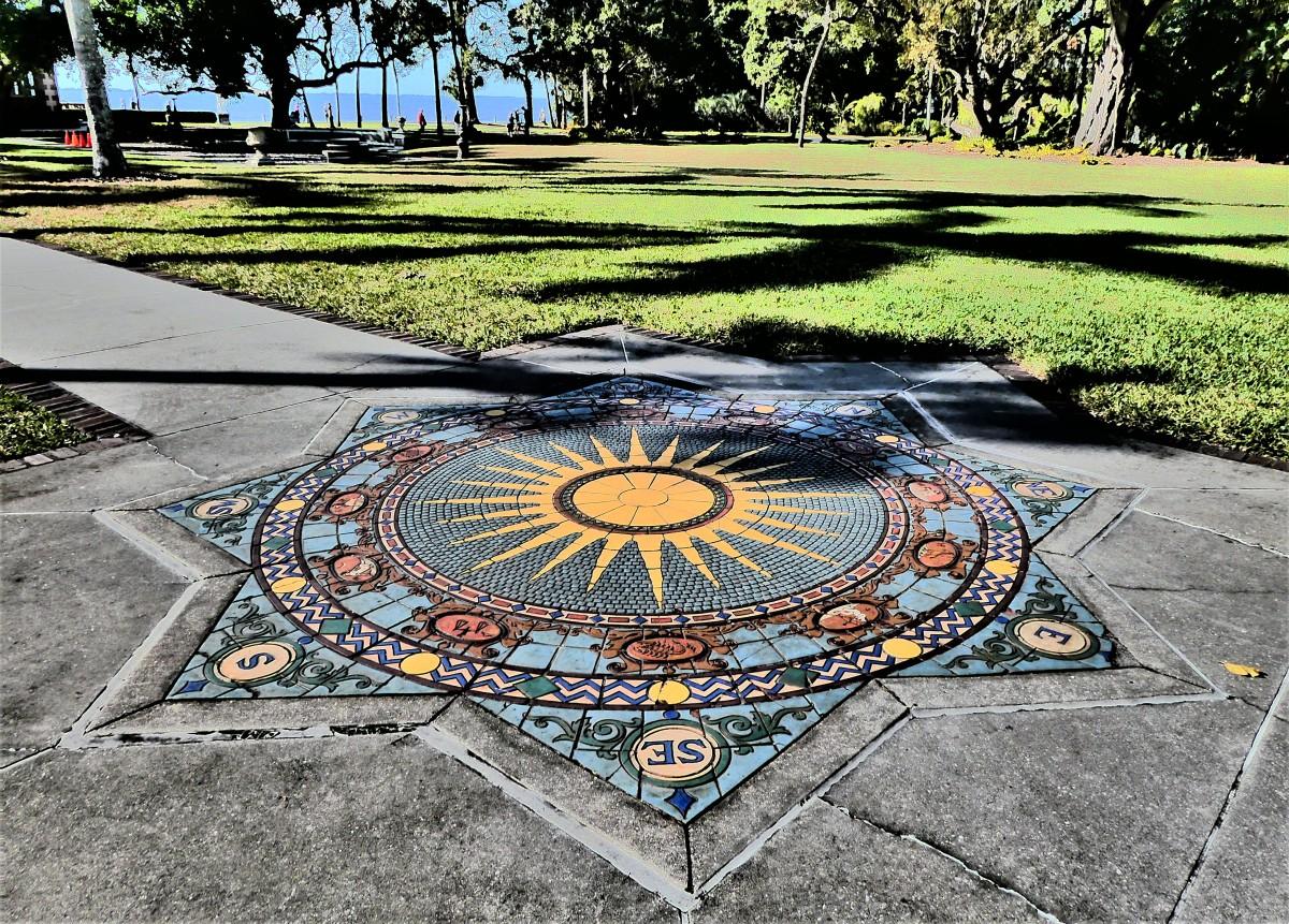 compass mosaic