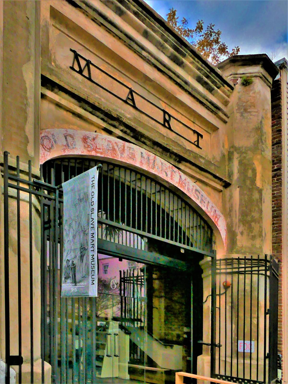 Old Slave Mart Museum entrance