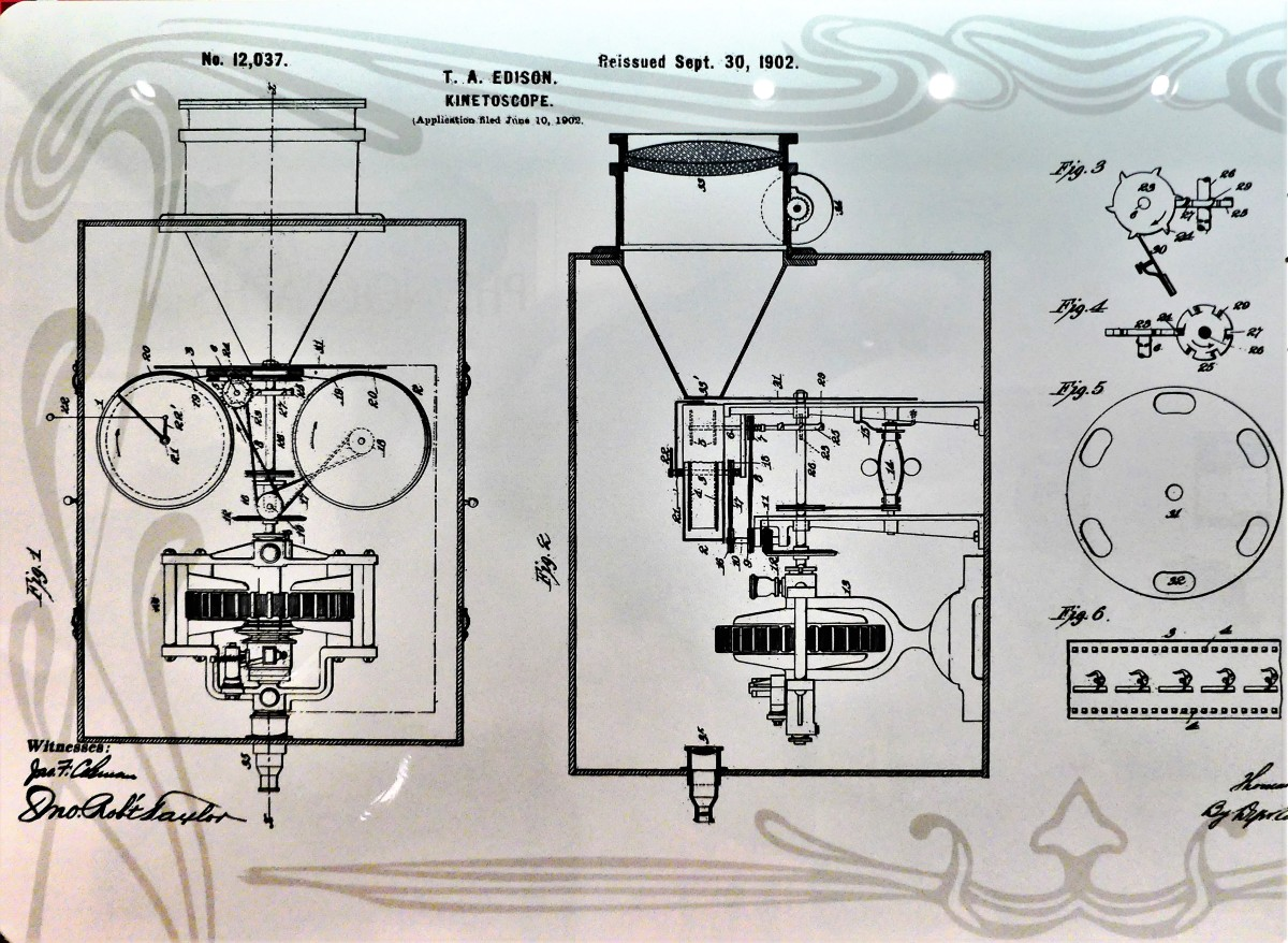 patent schematic for kinetescope