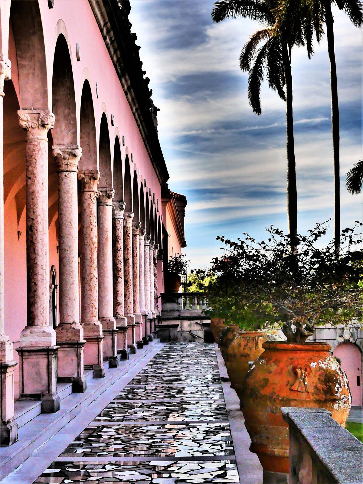 shimmering walkway