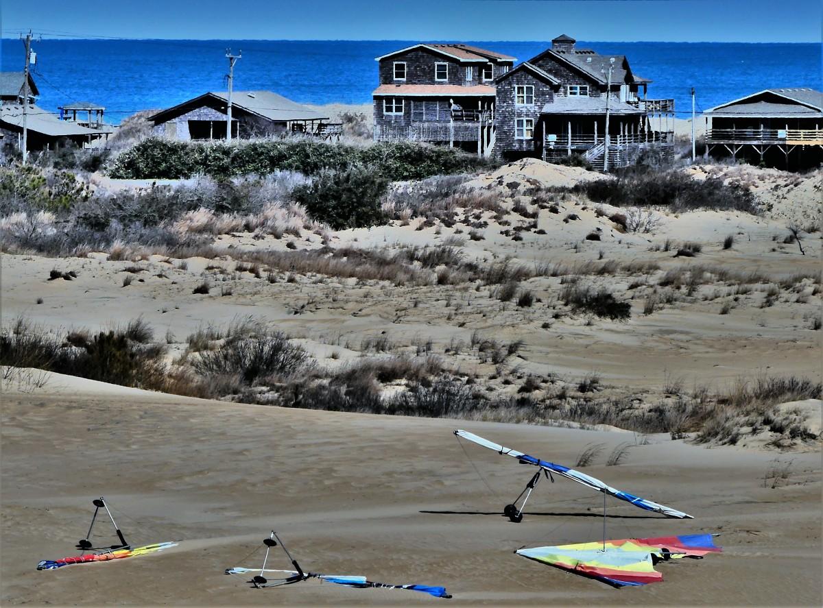 kites on dunes