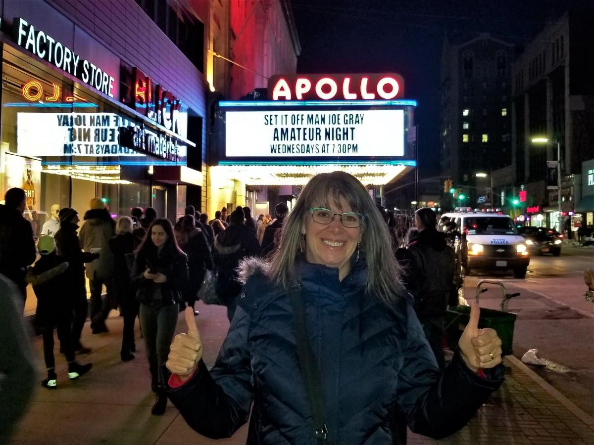 Leah at the Apollo