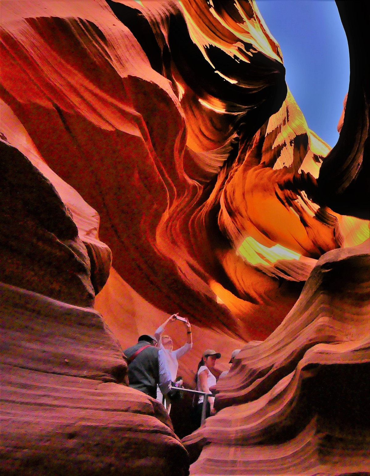 Ascending Lower Antelope Canyon trail