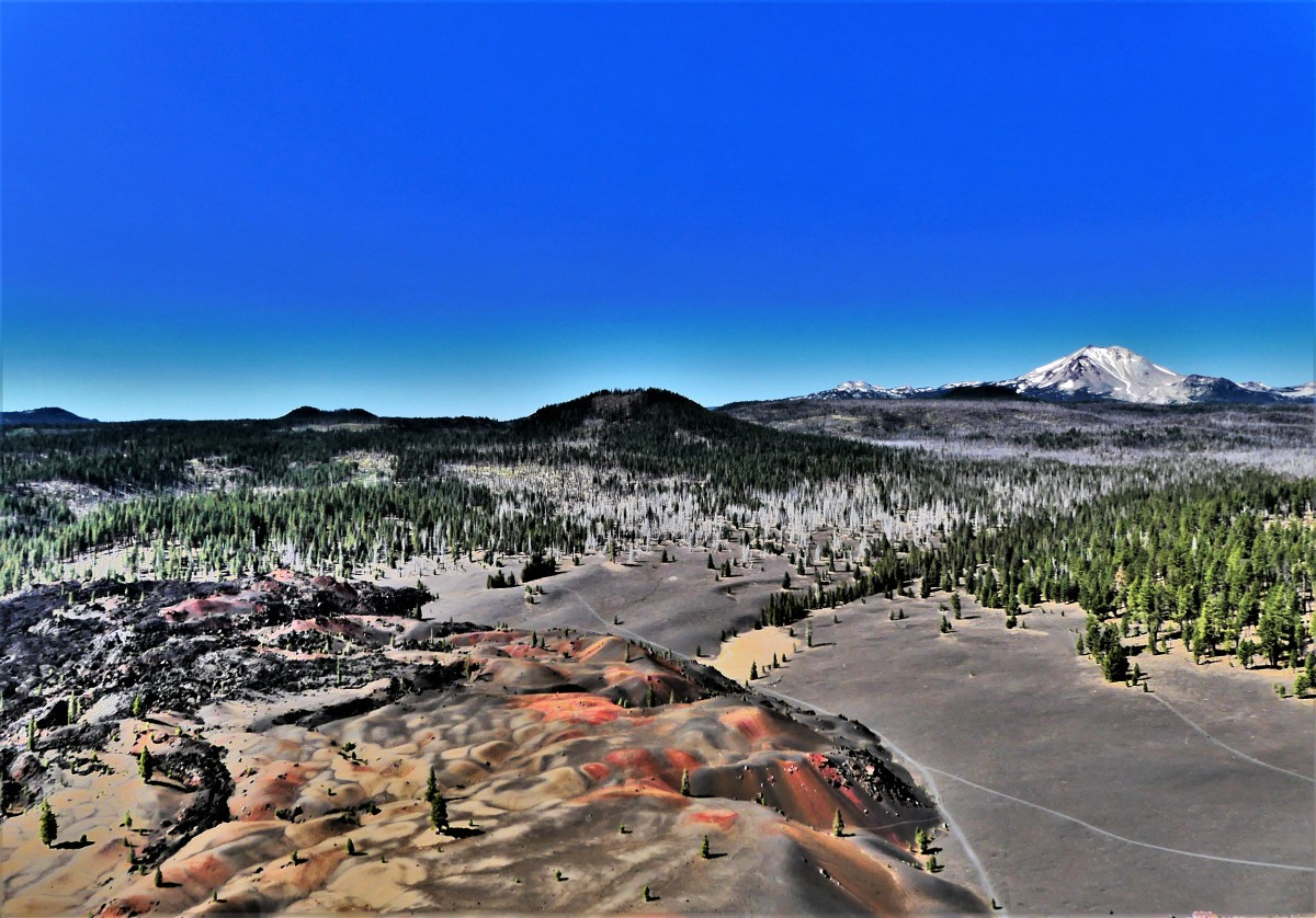 Lassen Volcanic Painted Dunes trail