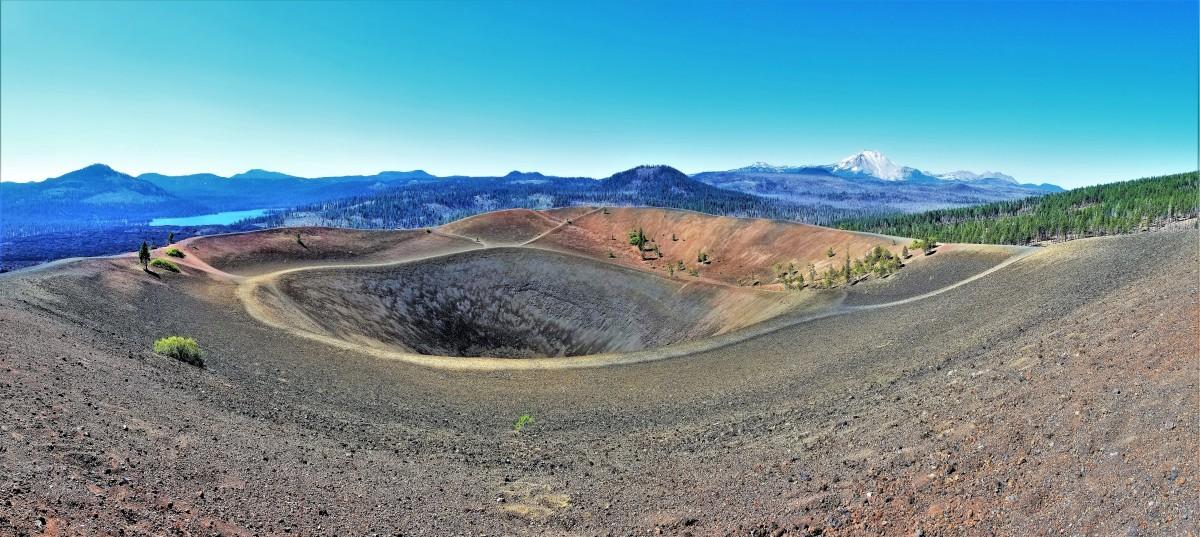 Cinder Cone Crater, Lassen Volcanic NP