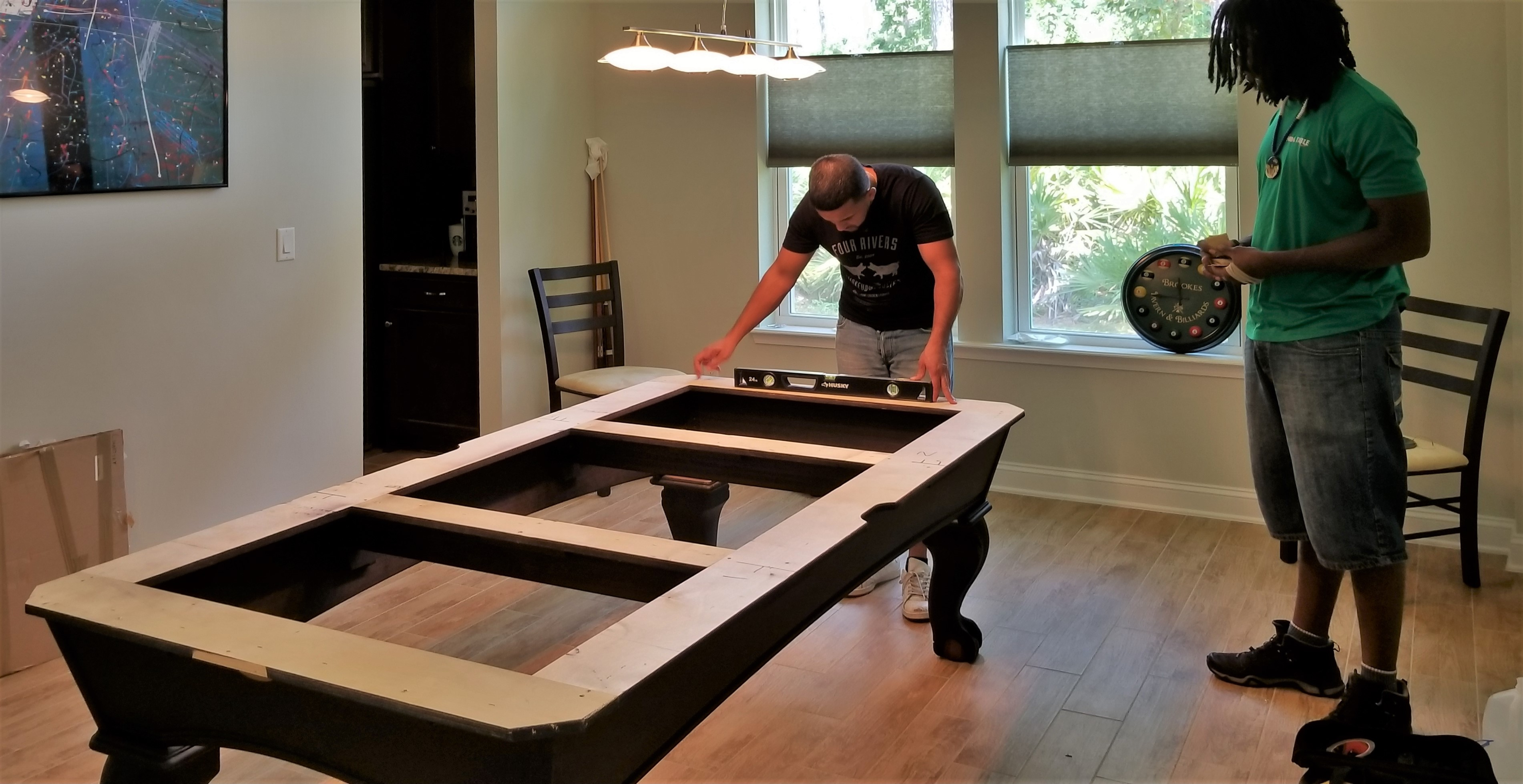 leveling the frame