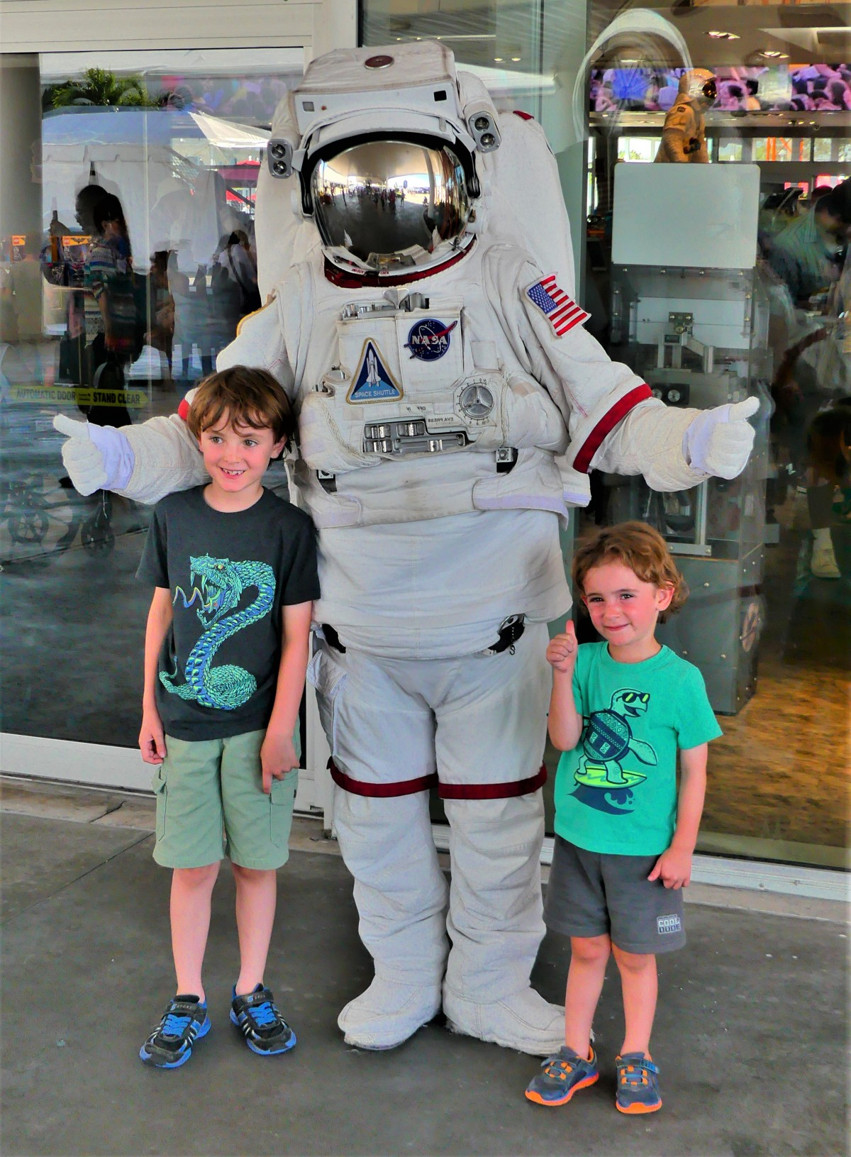 spaceman and kids