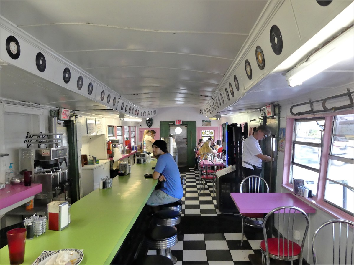 Angels Diner interior