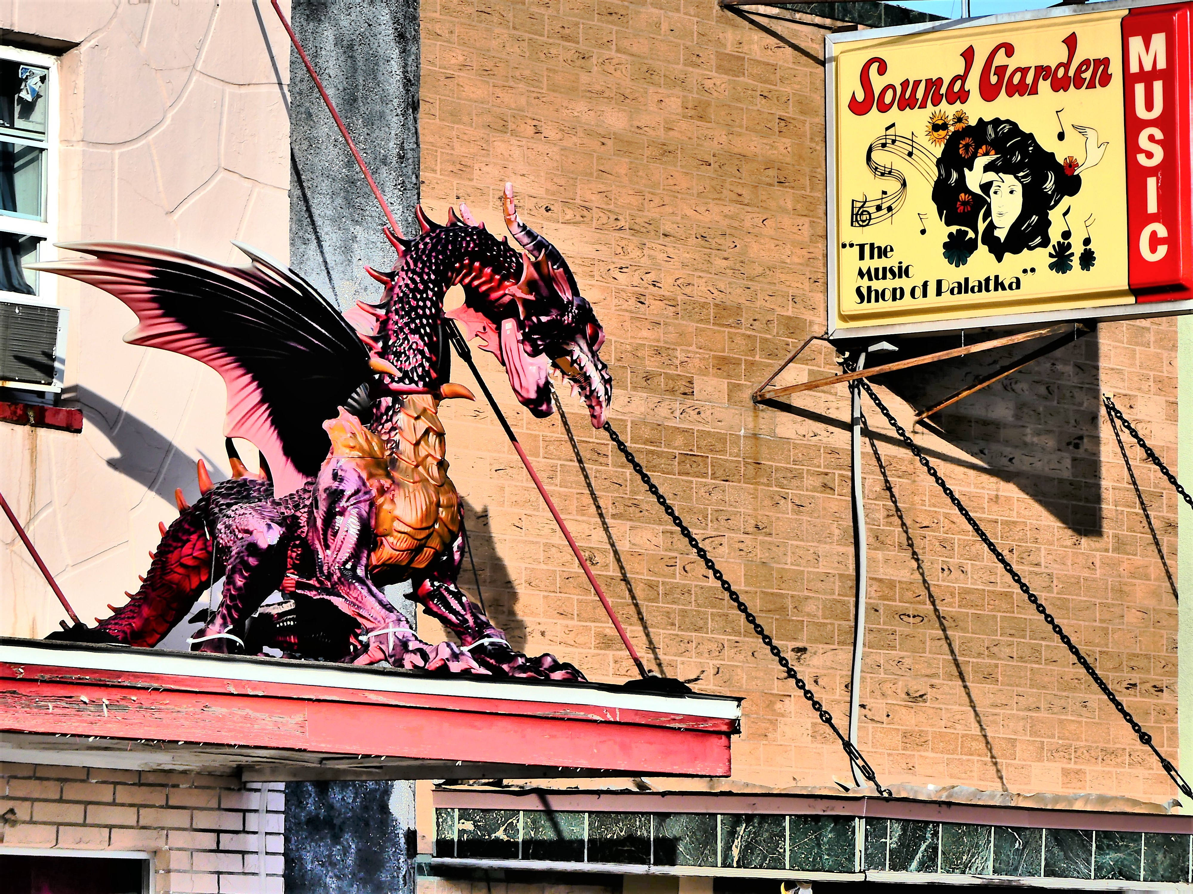 Dragon on a roof