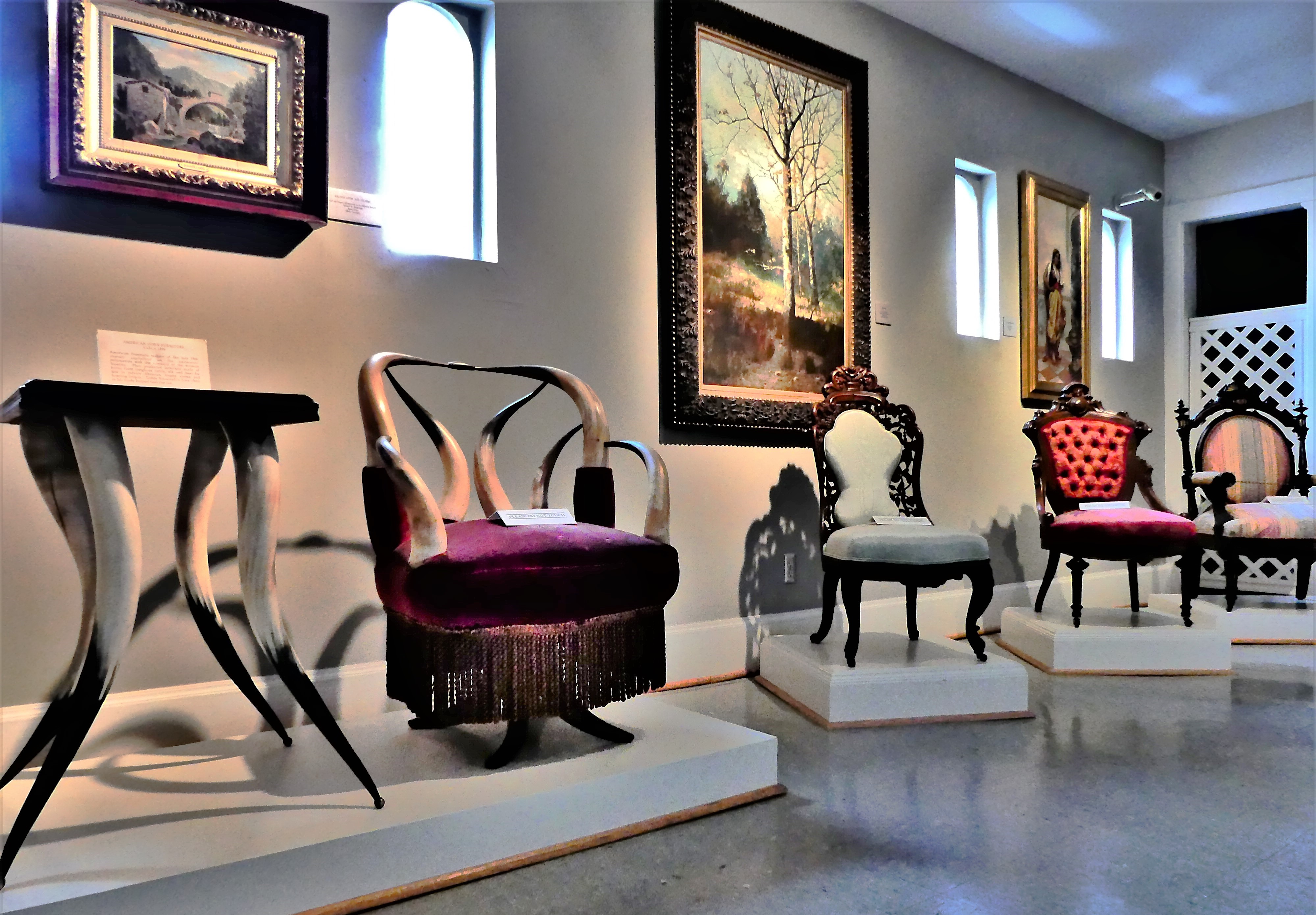 chairs and horn table (2)