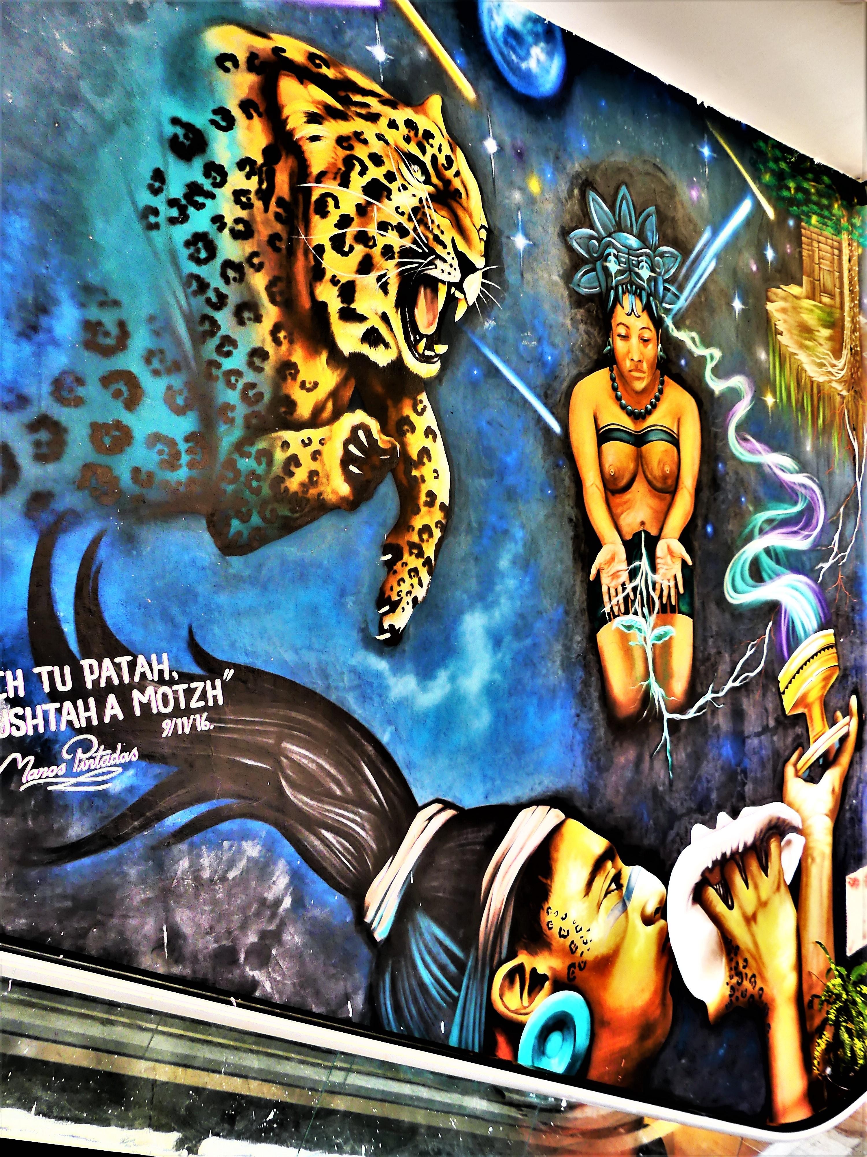 mayan culture mural