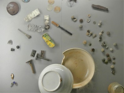 chipped bowl and paint tubes (2)