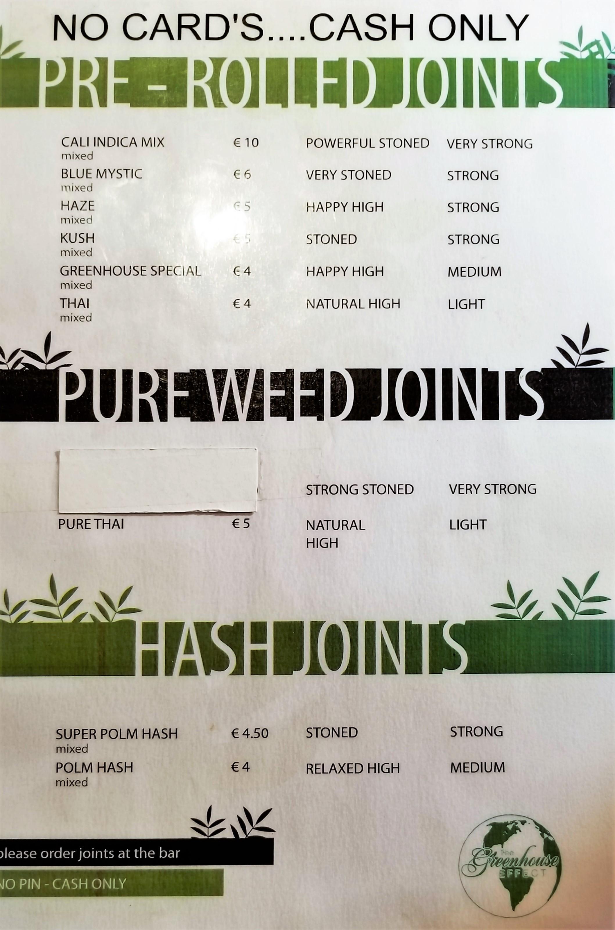 pot menu