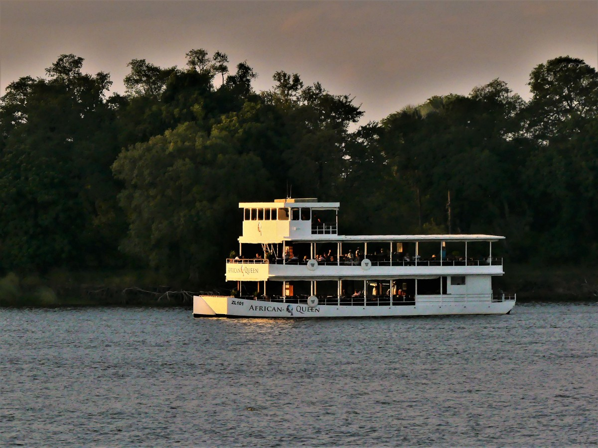 African Queen positioning for sunset