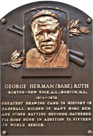 Babe Ruth plaque (2)