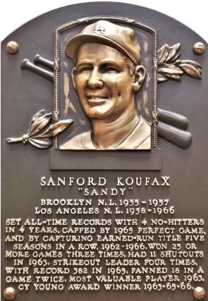 Koufax plaque (2)