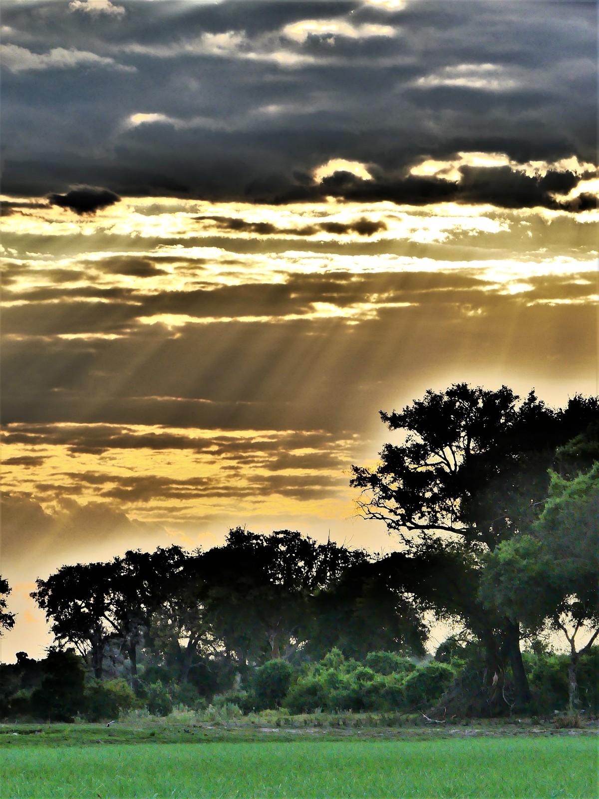 Sunset on the Okavango River