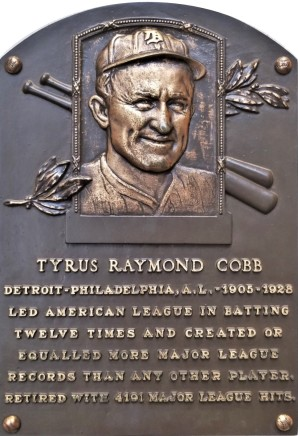 Ty Cobb plaque (2)