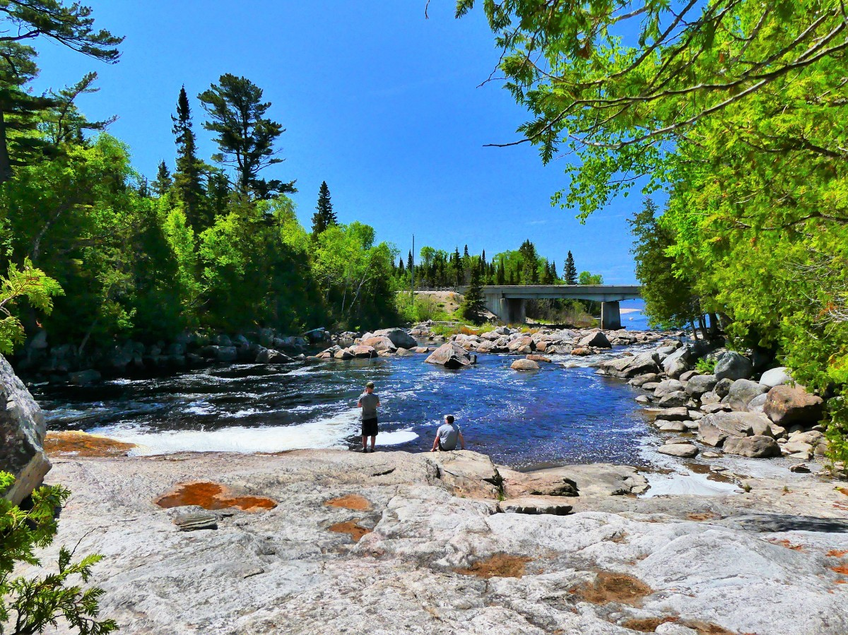 fishing from the falls.1jpg