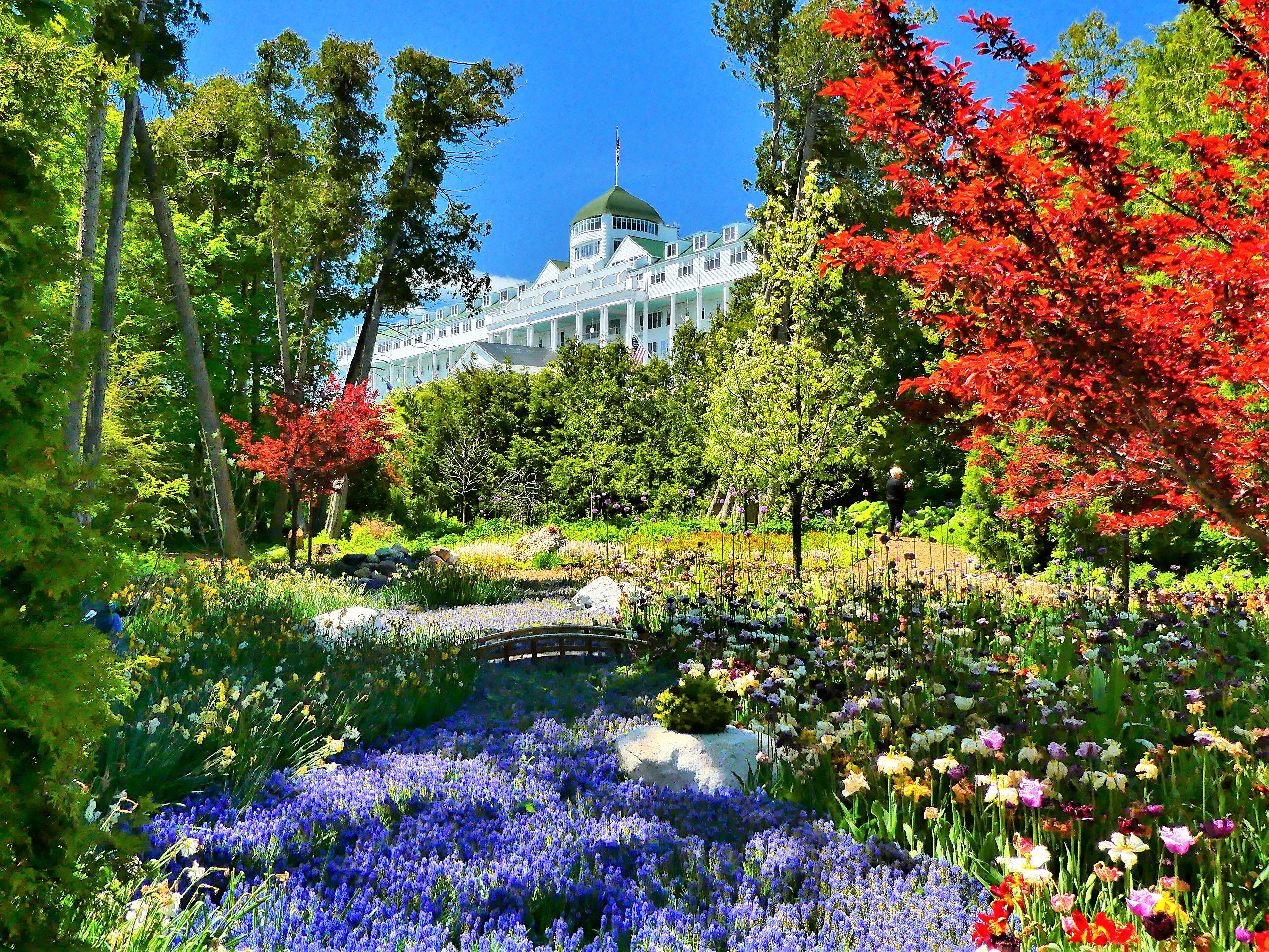Grand Hotel with flowers
