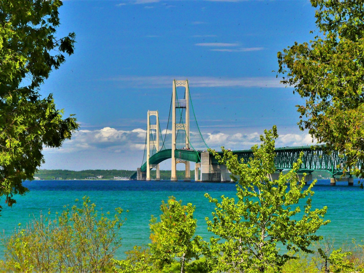 Mackinaw Suspension Bridge