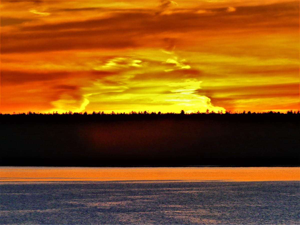 Sunset over Lake Mindemoya