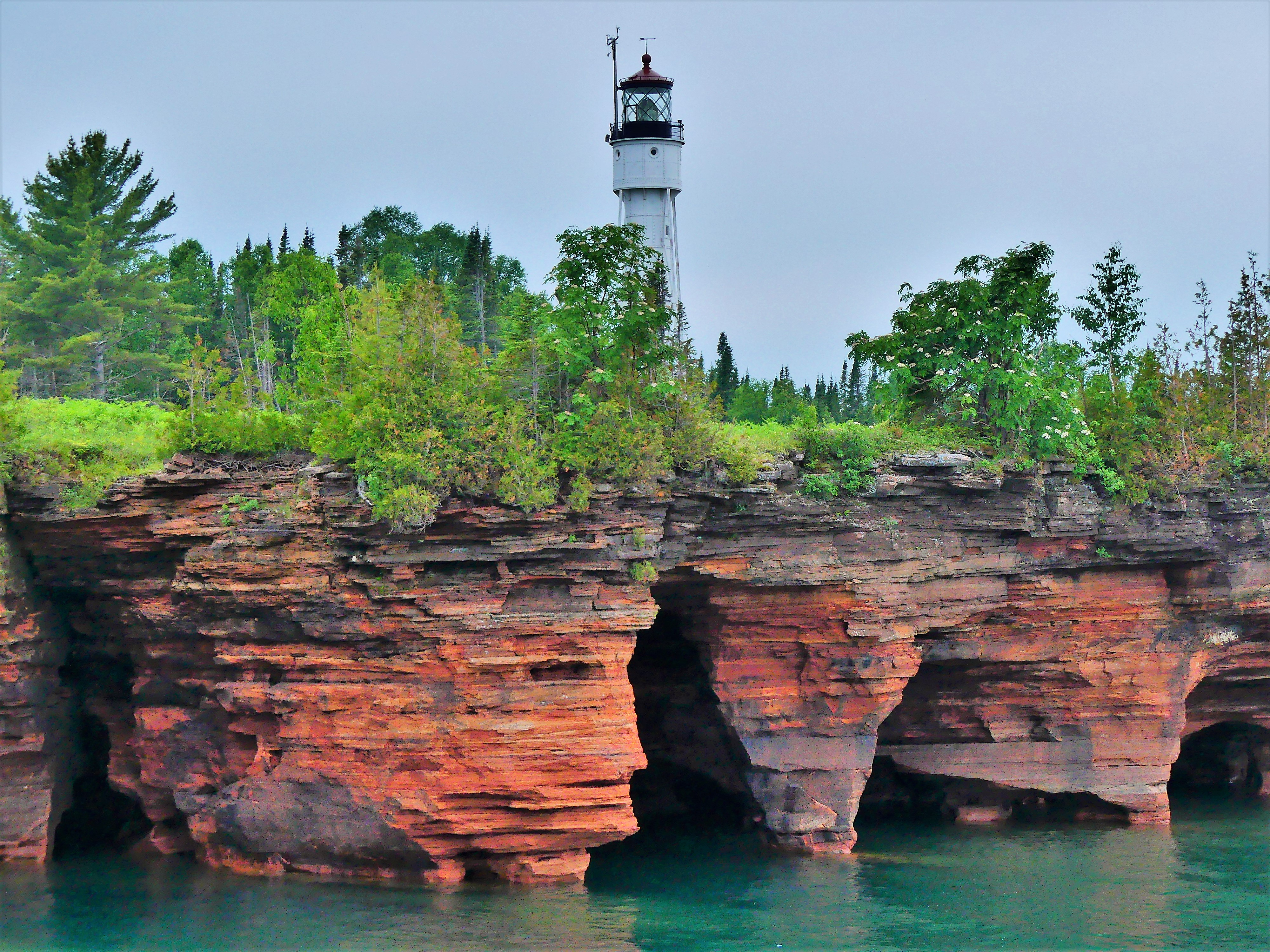caves and lighthouse