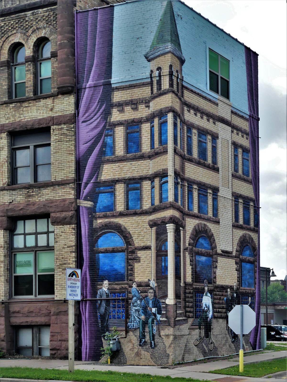 Corner mural