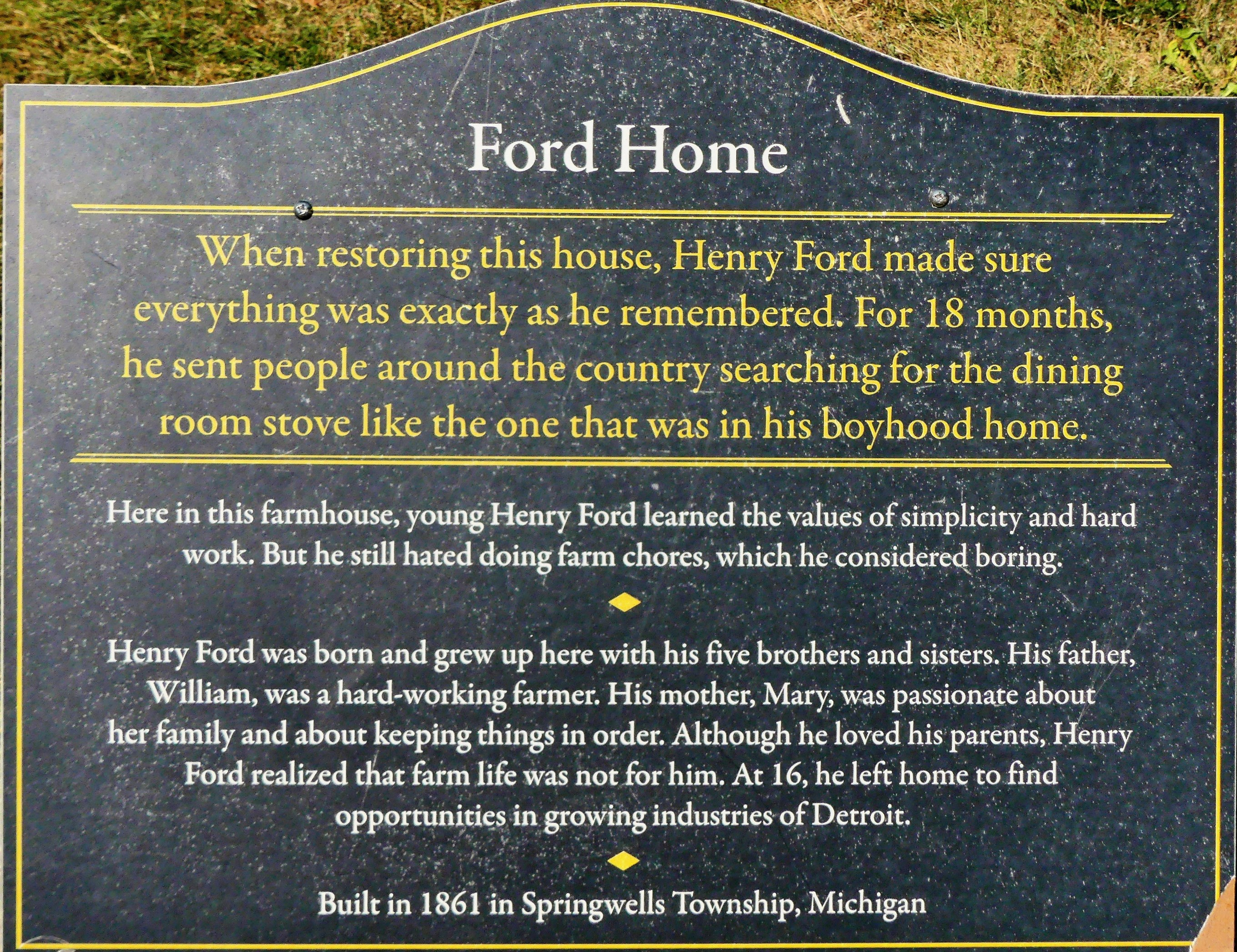 Ford Home sign